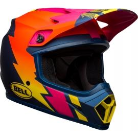 Casco BELL MX-9 MIPS STRIKE blu arancio rosa motocross quad enduro