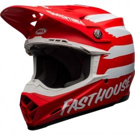 Casco BELL MOTO-9 MIPS FASTHOUSE SIGNIA rosso motocross quad enduro