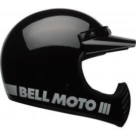 Casco BELL MOTO-3 CLASSIC nero lucido vintage motocross quad enduro
