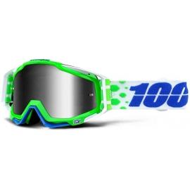 Maschera 100% Racecraft ALCHEMY lente specchiata argento Motocross Enduro Mtb