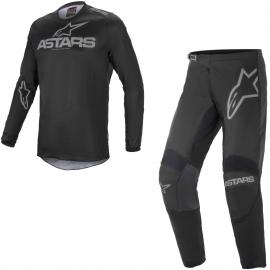 Completo motocross Alpinestars Fluid Grafhite 2021 grigio scuro enduro Quad