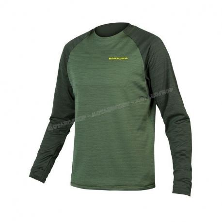 ENDURA SINGLETRACK FLEECE  maglia manica lunga verde mtb enduro dh