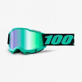 Maschera 100% ACCURI 2 TOKYO lente specchiata verde Motocross Enduro Mtb