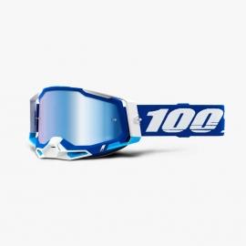 Maschera 100% Racecraft2 BLU lente specchiata blu Motocross Enduro Mtb