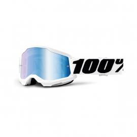 Maschera 100% STRATA 2 EVEREST lente spechiata blu Motocross Enduro Mtb
