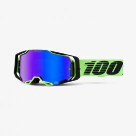 100% ARMEGA URUMA lente specchiata blu HIPER  maschera Motocross Enduro Mtb Dh
