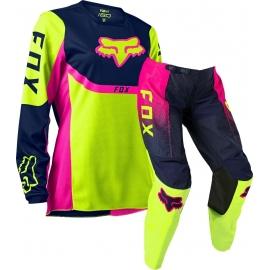 FOX 180  DONNA VOKE 2020 fluo giallo rosa completo motocross enduro