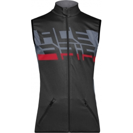 GILET ACERBIS X-WIND VEST grigio nero antivento in softshell enduro motocross mtb