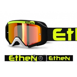 Maschera ETHEN 05R lente specchiata rossa motocross quad enduro