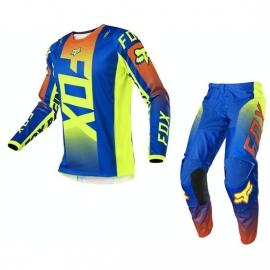 Completo motocross 2020 FOX 180 OKTIV  blu enduro quad
