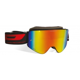 Maschera PROGRIP 3205 MAGNETIC lente specchiata rossa motocross enduro mtb
