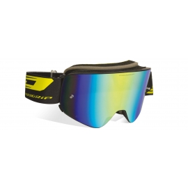 Maschera PROGRIP 3205 MAGNETIC lente specchiata gialla motocross enduro mtb