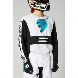 Completo motocross 2021 SHIFT BLACK LABEL UV  bianco ultra enduro quad
