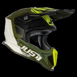 Casco Just1 J18 MIPS PULSAR LIM. EDITION ARMY verde nero bianco motocross Enduro Quad Supermotard