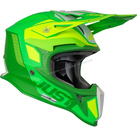 Casco Just1 J18 MIPS PULSAR lime fluo verde motocross Enduro Quad Supermotard