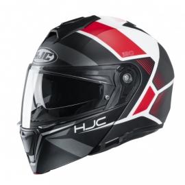 Casco integrale HJC i90 MODULARE HOLLEN nero rosso e bianco moto da strada scooter