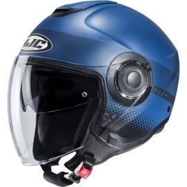 Casco JET HJC i40 UNOVA blu moto da strada scooter