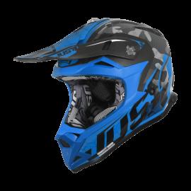 Casco Just1 J32 PRO SWAT BAMBINO camo blu fluo motocross Enduro Quad Supermotard