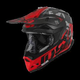 Casco Just1 J32 PRO SWAT BAMBINO camo rosso motocross Enduro Quad Supermotard