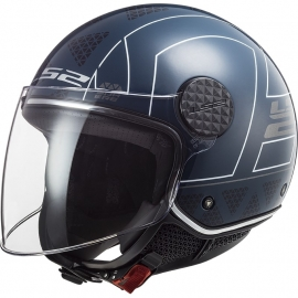 Casco jet LS2 OF558 Sphere LUX LINUS Moto Scooter