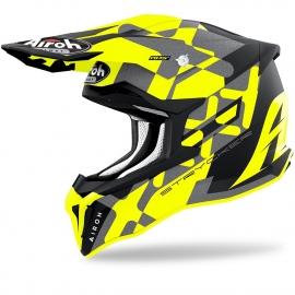 Casco AIROH STRYCKER XXX giallo fluo motocross enduro quad