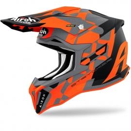 Casco AIROH STRYCKER XXX arancione fluo motocross enduro quad