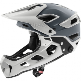 CASCO UVEX JAKKYL HDE 2.0 grigio mtb Uphill, downhill, flowtrail, bikepark mentoniera removibile