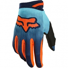 Guanto Motocross FOX 180 OKTIV AQUA azzurro arancione   Enduro Mtb Freeride Downhill