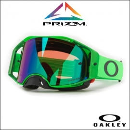 Oakley Airbrake MX moto verde  lente PRIZM JADE  iridium maschera Motocross Enduro Mtb