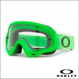 Maschera Oakley O Frame verde lente chiara motocross enduro dh