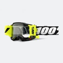 100% ACCURI 2 FORECAST NERA lente chiara con Roll Off motocross enduro quad