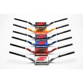 MANUBRIO SCAR D.28,6 piega Villopoto/Stewart rosso motocross enduro