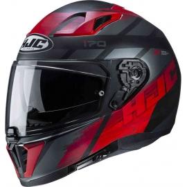 Casco integrale HJC i70 REDEN nero rosso moto da strada scooter