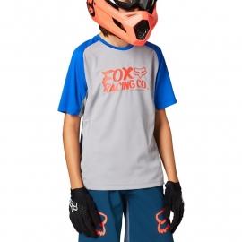 Maglia manica corta FOX DEFEND RAGAZZO grigio e blu  Downhill ENDURO MTB