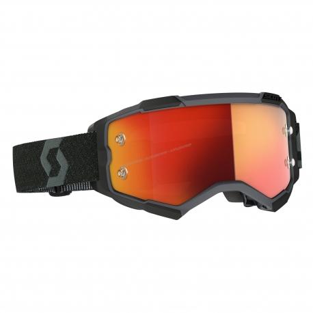 Maschera SCOTT FURY lente specchiata arancione motocross enduro dh