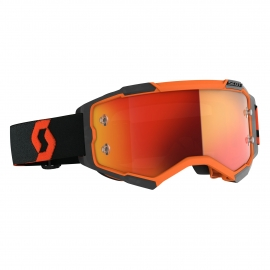 Maschera SCOTT FURY arancione nera lente specchiata arancione motocross enduro dh