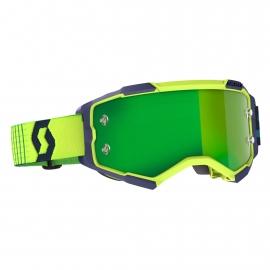 Maschera SCOTT FURY giallo blu lente specchiata verde motocross enduro dh