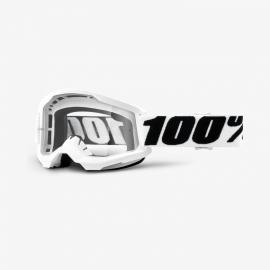 Maschera 100% STRATA 2 EVEREST lente specchiata blu Motocross Enduro Mtb