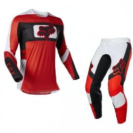 Completo motocross 2021 FOX Flexair MIRER rosso e bianco enduro quad