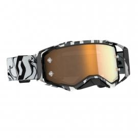 Maschera SCOTT PROSPECT AMPLIFER lente specchiata oro motocross enduro dh