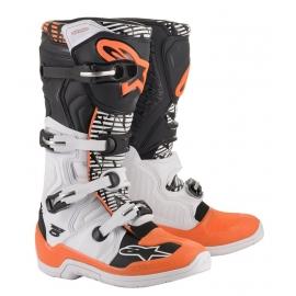 ALPINESTARS TECH 5  bianco nero arancio fluo motocross enduro quad