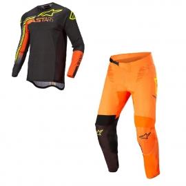 Completo motocross Alpinestars  Supertech Blaze 22 arancione enduro Quad