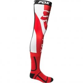 FOX  MIRER Knee Brace rosso fluo calza lunga per ginocchiera motocross enduro quad