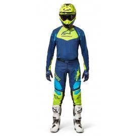 Completo Alpinestars TECHSTAR FACTORY 22 blu giallo fluo motocross enduro Quad