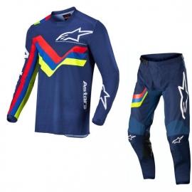 Completo Alpinestars RACER BRAAP 22 blu motocross enduro Quad