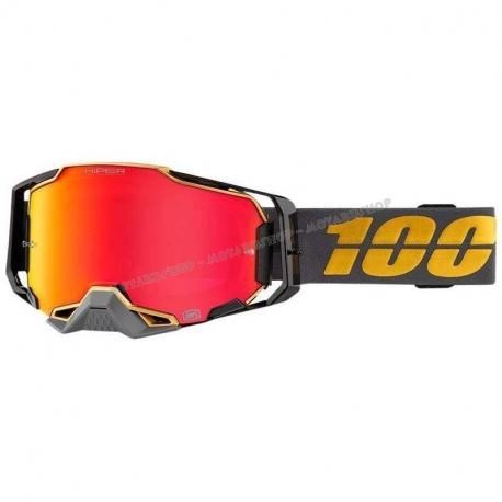 Maschera 100% ARMEGA FALCON lente specchiata rossa Motocross Enduro Mtb Dh