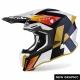 CASCO AIROH TWIST 2.0 LIFT bianco lucido blu giallo motocross, enduro quad