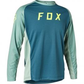 FOX DEFEND maglia manica lunga  RAGAZZO blu ardesia  Downhill ENDURO MTB