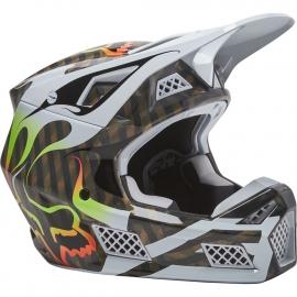 FOX V3 Kustm Multicolor Casco Motocross Enduro Quad Supermotard