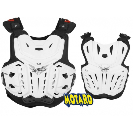 LEATT Chest Protector 4.5 WHITE pettorina Motocross Enduro Mtb Dh